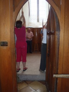 Bell-ringers in St. Peter's in Palgrave,