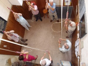 Bell-ringers in St. Peter's in Palgrave