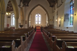 Interior of St.Peter's Church in Palgrave which is part of the North Hartismere Benefice.