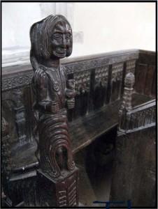 Detailof St Margaret of Antioch in Thrandeston